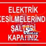 Elektrik Uyarı Levhaları